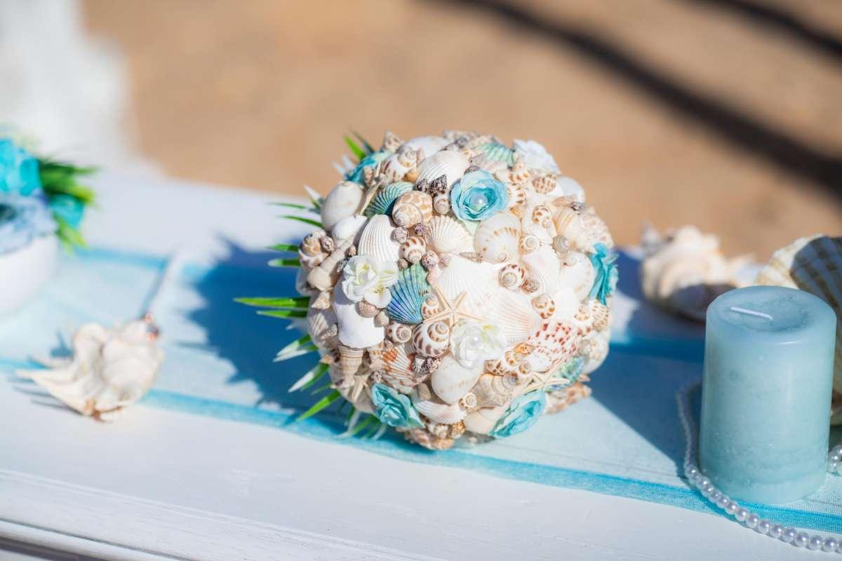 Tengerparti esküvő | Menyasszonyi csokor